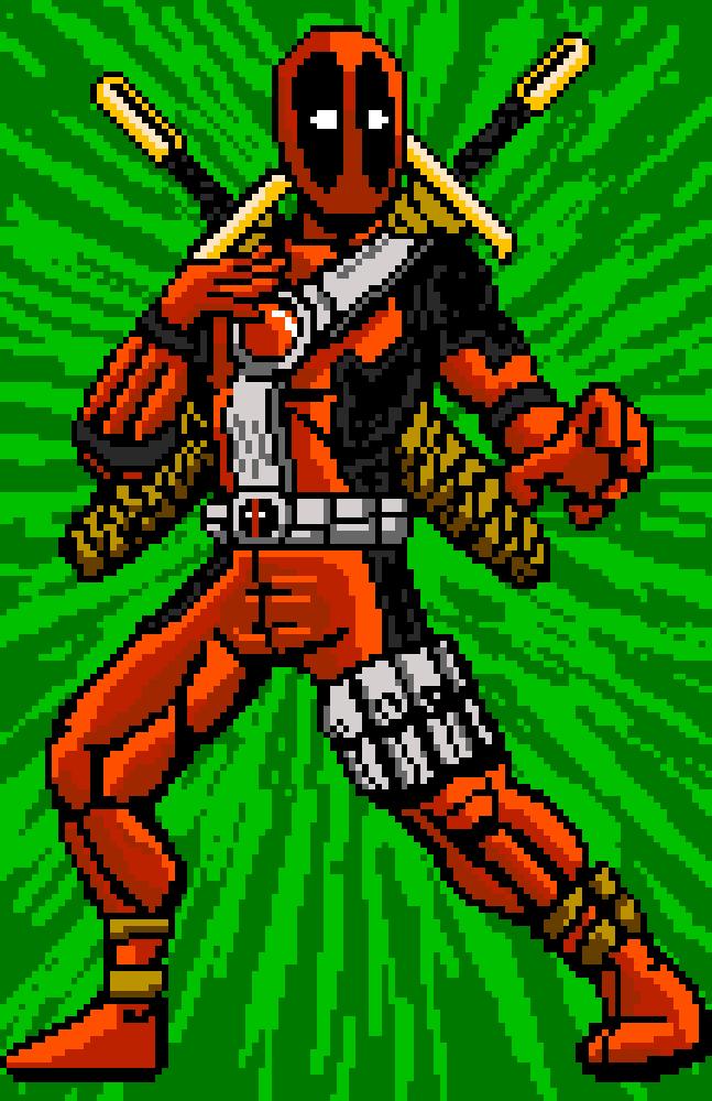 Deadpool Pixel Art Psychoandycom